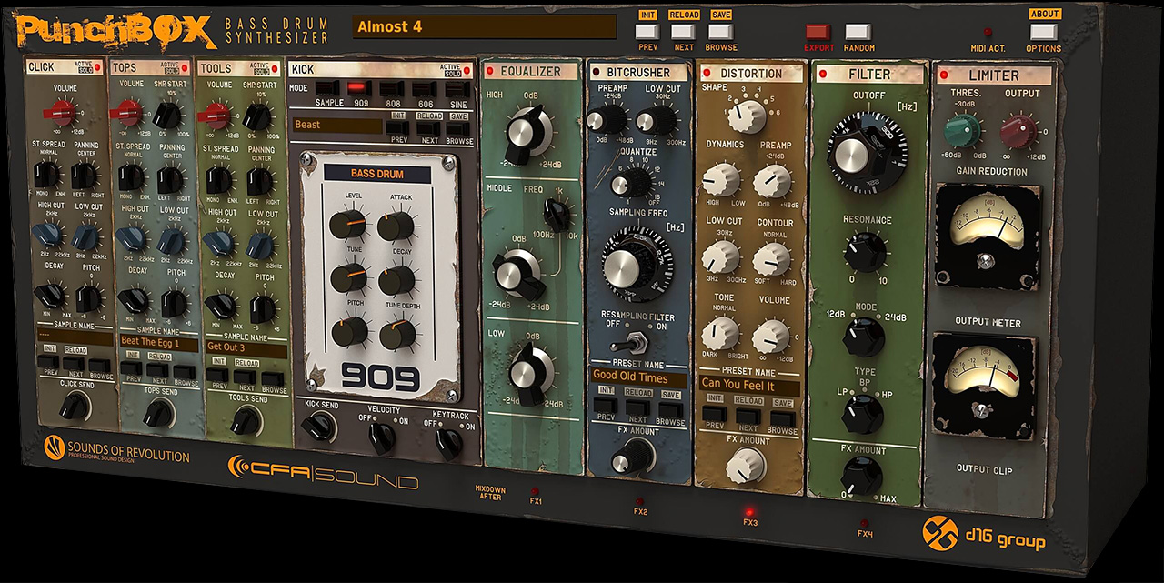 PunchBox Bassdrum Synthesizer by D16 Audio Group