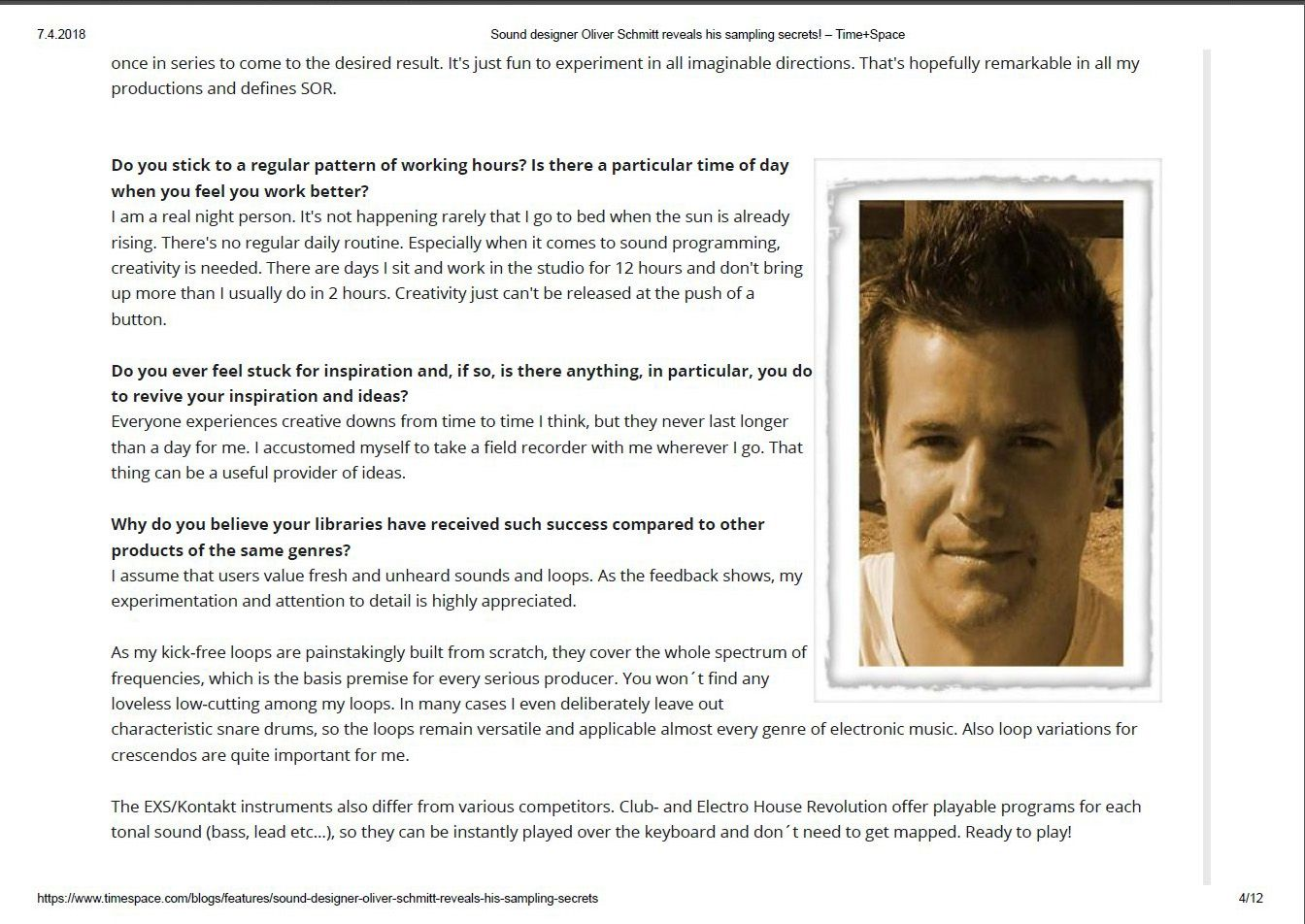Time & Space Interview with Oliver Schmitt from Sounds of Revolution - Page 4