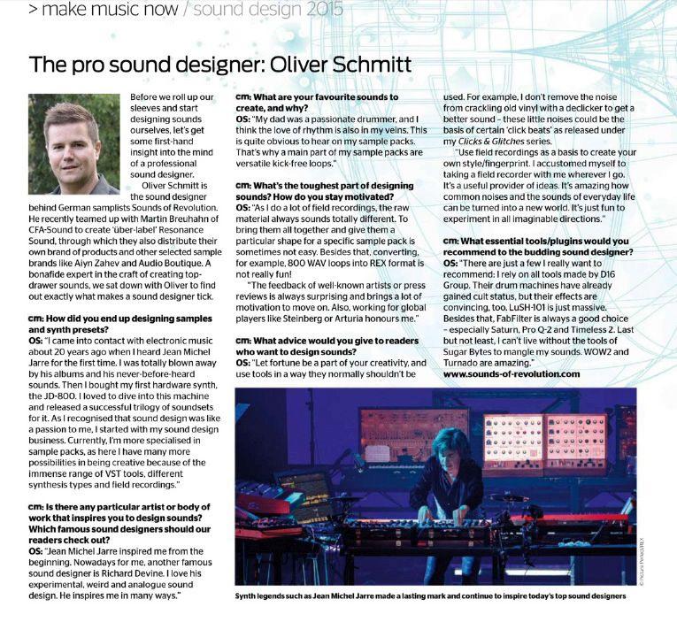 Interview Computer Music UK with Oliver Schmitt (SOR)
