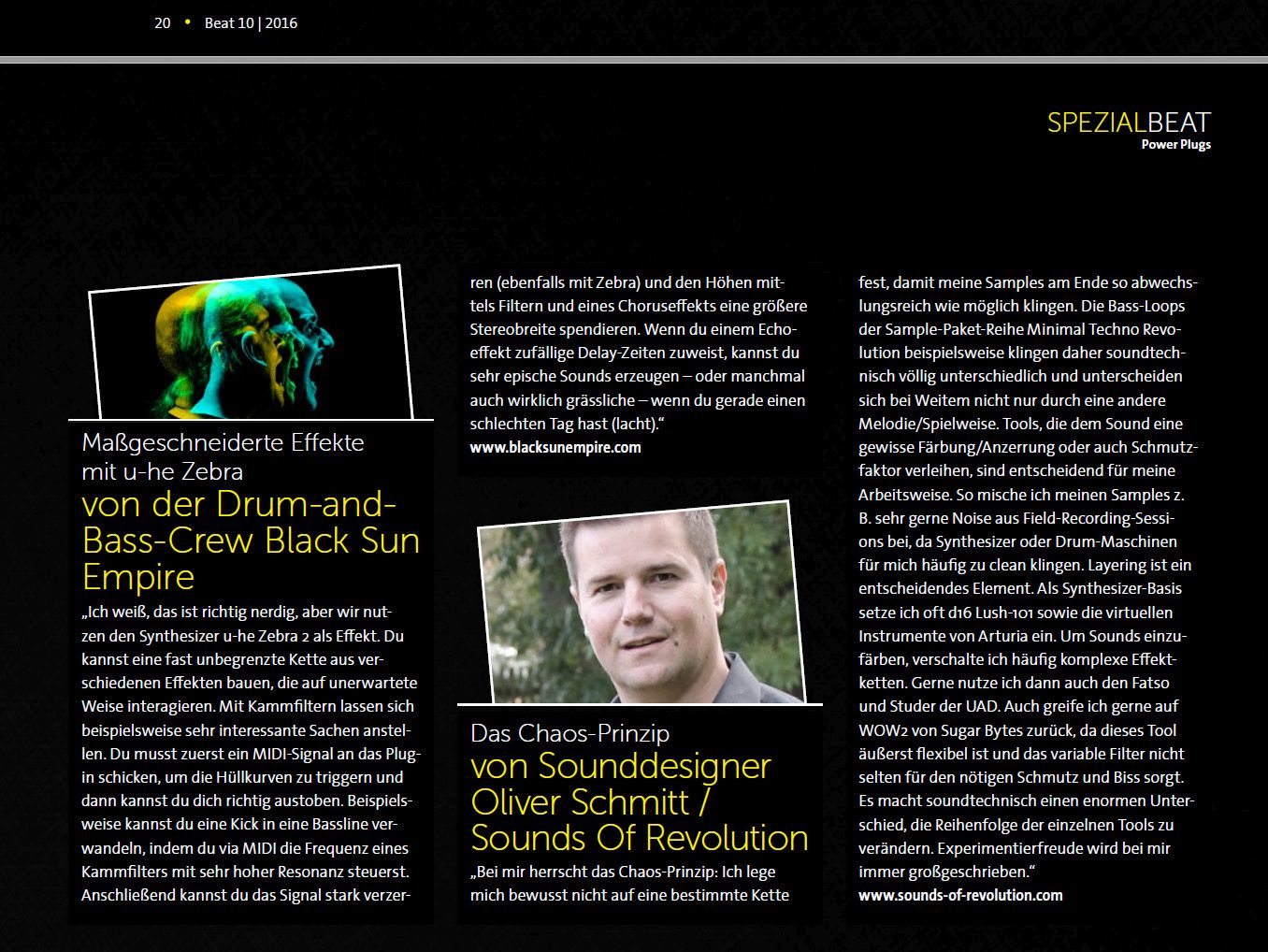BEAT Magazine - special article about Power Plugins with Oliver Schmitt (SOR)