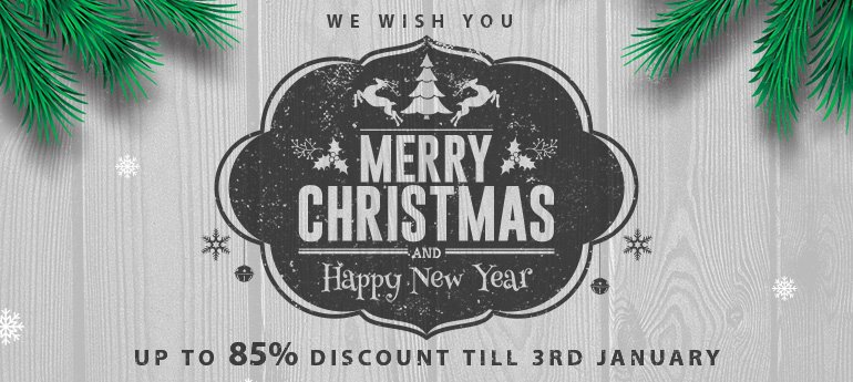 up to 85% discount for limited time