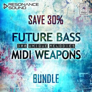 bundle of chord and lead midi melodies for future bass and trap